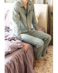 Etsy Ensemble Pyjamas En Linge - Vert