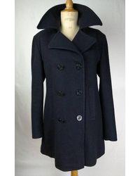 Etsy Caban Style Breton En Laine Bleu Marine Navy Wool Pea Coat