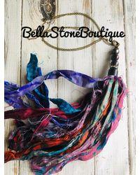 Etsy Sari Silk Fresh Water Pearl Necklace/sari Tassel/pearl Tassel/multi Tye Dye Sari Tassel/pearl Jewelry - Black