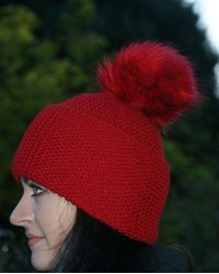 Etsy Hat Slouchy - Red