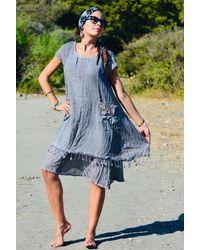 Etsy Robe Hippie - Bleu
