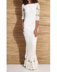 Etsy Longue Robe Au Crochet - Blanc