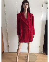 Etsy Manteau Rouge Vintage Col Chale Made in France 100% Laine