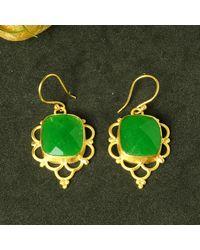 Etsy Faceted Gem Earrings - Green