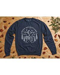 Etsy Travel Gifts // Jumper Adventure Clothing Wanderlust Gift Navy Sweatshirt - Blue