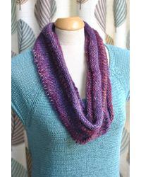 Etsy Violet Wool Infinity Scarf - Purple
