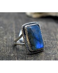 Etsy Labradorite Ring 8 Us Ring - Metallic