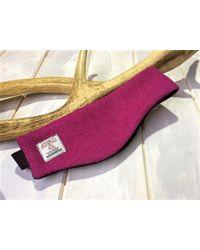 Etsy Harris Tweed Cerise Pink Ear Warmers/head Band/ Hair Band