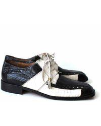 Etsy Marco Vicci Noir &blanc Cuir Robe Chaussures Oxford 44/9