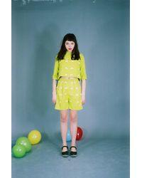 Etsy Ruban Motif Shorts - Gris