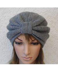 Etsy Grey Turban Hat For