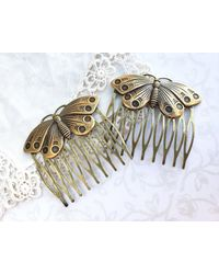 Etsy Butterfly Hair Combs - Multicolor