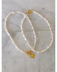 Etsy Pearl Necklace - White