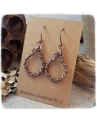 Etsy Barbed Wire Earrings - Multicolor