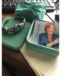 Etsy Brand New Carolyn Pollack Sterling Silverado Teal Leather Cuff Bracelet - Green