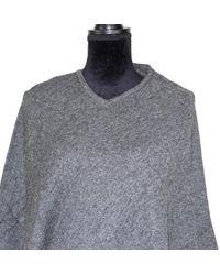 Etsy Dark Grey Cashmere Poncho One
