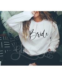 Etsy Bride Sweatshirt - White