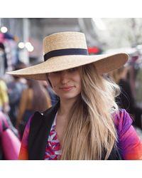 Etsy Paloma Wide Brim Straw Hat - Black