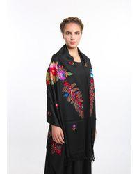 Etsy Embroidered Kashmir Shawl Floral Black