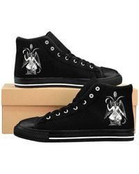 Etsy Baphomet 'S High-Top Sneakers - Noir