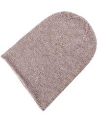 Etsy 100% Tweed Cashmere Beanie Hat - Brown