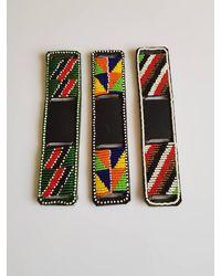Etsy 3 Pcs Leather Beaded Watch Band/african Watch Accessories Maasai Maasai Leather Wrist Belt - Black