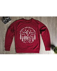 Etsy Travel Gifts // Wanderlust Adventure Clothing Jumper Gift Cranberry Sweatshirt - Red