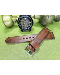 Etsy Handmade Leather Watch Strap With Brown Itallian Leather