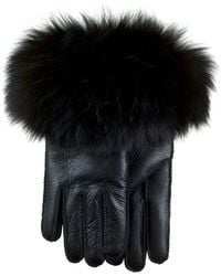 Etsy Black Sheepskin Gloves With Cuff