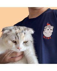 Etsy T-Shirt Brodé Personnalisé Pour Animaux De Compagnie - Blanc