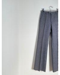 Etsy Pantalon Évasé Gingham Vintage Avec - Blanc