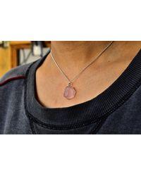 Etsy Raw Rose Quartz Necklace - Pink