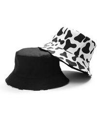 Etsy Moo Cow Print Bucket Hat - White