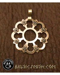 Etsy Viking Age Old Prussian Sun Brooch Pendant In Bronze - Metallic