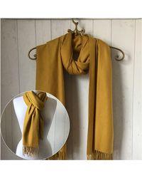 Etsy - Mustard Wool Blend Pashmina/shawl Wrap/ Woollen Wedding /mustard - Lyst