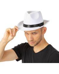 Etsy White Gangster Hat Fancy Dress Costume Adults 1920s Hard Smart Black