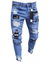 Etsy Jeans Skinny Déchiré - Bleu