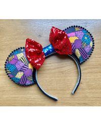 Etsy Sally Rag Doll Inspired Mouse Ears Handmade Halloween Minnie - Grey