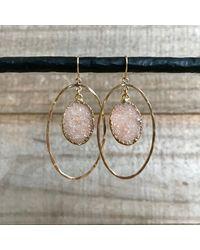 Etsy Druzy Earrings - Metallic
