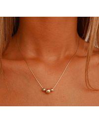 Etsy Minimalist Gold Beaded Necklace - Metallic