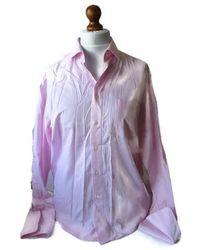Etsy 00S Vintage s Chemise Rose Non Iron Cotton Button Down Shirt Italian Classic Preppy Office - Violet