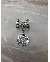 Etsy Silver Clock Scarf Ring/bail Slide - Metallic