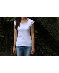 Etsy T-Shirt Natural Cotton/T-Shirts Tees D'Été Maillot Tshirt White Raglan Sleeves Tee Shirt Handmade Woman T-Shirt Cotton Top - Blanc