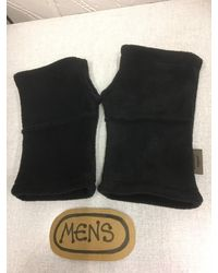 Etsy Hedkase Fleece Hand-warmers Keypad Mitts Fingerless Gloves Handmade In Suffolk U - Black