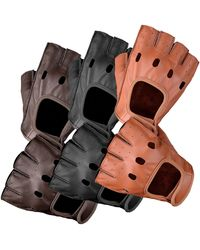 Etsy Real Genuine Aniline Leather Classic Cycling Fashion Gloves - Multicolour