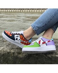Etsy Custom Air Force 1 Toy Story Woody/Buzz L'éclai - Gris