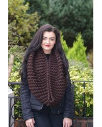 Etsy Long Brown Chunky Scarf