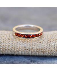 Etsy Natural Garnet Ring - Metallic
