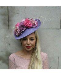 Etsy Large Lilac Beige Pink Purple Flower Teardrop Fascinator Hat Races Hair 7238