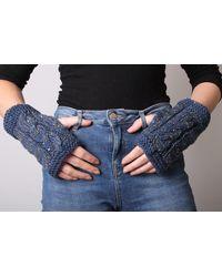 Etsy Fingerless Gloves - Blue